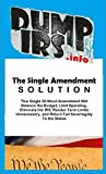 The Single Amendment Solution: How a Single 30-Word Amendment would Balance the Budget, Limit Spending, Eliminate the IRS, Render Term Limits Unnecessary, and Return Full Sovereignty to the States