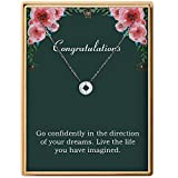 Back to School Gift S925 Sterling Silver Dainty Compass Friendship Necklace For Women (Brass Compass Congratulations-2)