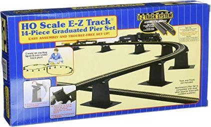 Bachmann-Trains-14-PC-E-Z-TRACK-GRADUATED-PIER-SET-HO-Scale