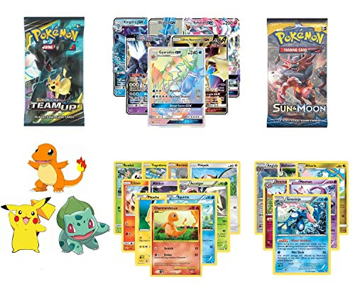 25 Pokemon Cards with One EX/GX Guaranteed and 1 Sealed Booster Pack. Contains 5 Rare Reverse Holo/Holo and 10 Common/Uncommon Cards and Exclusive JT Corp Pokemon Sticker!