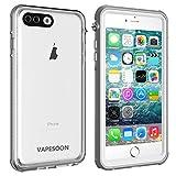 iPhone 7 Plus /8 Plus Waterproof Case,Vapesoon Waterproof Shockproof Snowproof Clear Case for iPhone7 Plus /8 Plus -Gray+White (5.5 inch) (Gray+White) (Gray/White) (White/Clear)