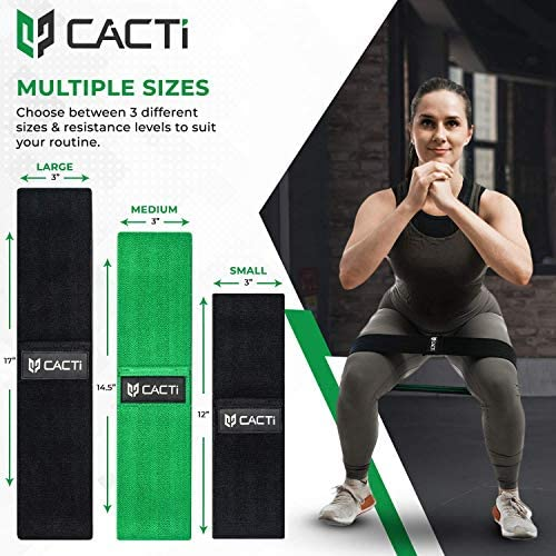 Fabric Resistance Bands & Core Sliders Exercise Set - 3 Booty Bands & 2 Strength Slides for Legs, Butt, Hips, Glutes, Abs, Shoulders & Arms - Non Slip & Non-Rolling (Bands & Sliders) 2