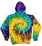 Colortone Tie Dye Hoodie XL Mardi Gras