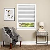 Achim Home Furnishings Cordless 1 2 3 shade Vinyl Room Darkening Pleated Window Shade, 36' x 75', White