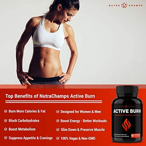Fat Burner for Women & Men - Thermogenic Weight Loss Supplement with Green Tea Extract & White Kidney Bean - Carb Blocker, Appetite Suppressant, Energy & Metabolism Booster - 60 Diet Pills 6