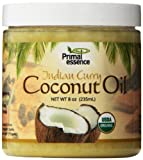Primal Essence Organic Virgin Coconut Oil Naturally Infused with Whole-Plant Extracts (Indian Curry) 8 Ounce