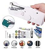 Handheld Sewing Machine Yibaisionn Portable Mini Electric Stitching Machine Fabric Curtains Cordless Craft...