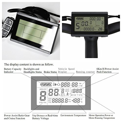 Ebike 36V/48V 1000W Brushless DC Sine Wave Ebike Controller Silver Color With Regenerative Function For Electric Bike (LCD3 Display)