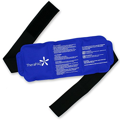 Pain Relief Flexible Ice Pack for Injuries by TheraPAQ | Hot & Cold Therapy Reusable Gel Pack/Heat Wrap - Great for Back, Waist, Shoulder, Neck, Ankle, Knee and Hip (Large pack:14' X 6')