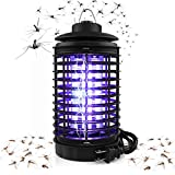 BAPTISM Electric Bug Zapper, Powerful Mosquito Trap, Light-Emitting Mosquito Lamp with Hook, Flying Insect Trap for Indoor (Black)
