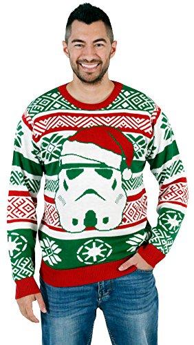 star wars santa stormtrooper ugly christmas sweater ugly sweaters - Star Wars Ugly Christmas Sweater