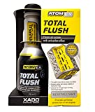 XADO Engine Oil System Cleaner with Anti-Carbon Effect - Removes Contamination & Engine Sludge - ATOMEX Total Flush Revitalizant (Bottle, 250ml)