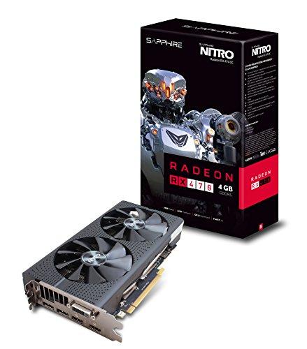 Sapphire Radeon NITRO Rx 470 4GB GDDR5 Dual HDMI / DVI-D / Dual DP OC (UEFI) PCI-E Graphics Card 11256-10-20G