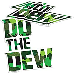 Popfunk Mountain Dew Do The Dew Camo Logo Collectible Stickers