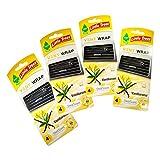 Little Trees Vent Wrap Air Freshener 4 Packs CarFreshner (Vanillaroma)