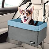 JESPET Dog Booster Seats for Cars, Portable Dog Car Seat Travel Carrier with Seat Belt for 24lbs Pets