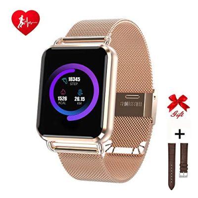 RanGuo Smart Watch per uomini, donne e bambini, orologio intelligente Bluetooth impermeabile per smartphone con sistema Android e iOS, supporta promemoria di chiamata e messaggi.