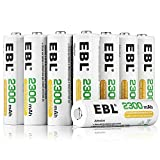 EBL AA Rechargeable Batteries 2300mAh Ni-MH (16-Count, Battery Storage Box)