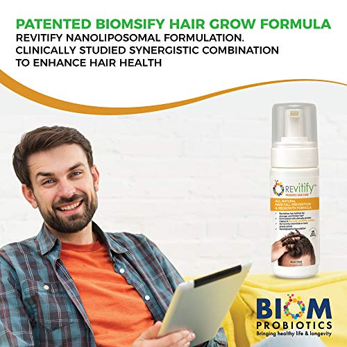 Revitify Probiotic Hair Growth Serum for Men and Women -Blocks DHT and Revives Follicle Growth - Formulated Hair Treatment to Prevent Hair Loss and Regrow Hair-Contains Biotin+Biomsify Formula. (1T) 5
