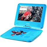 UEME 11.5 inches Portable DVD CD Player with 9 Inches LCD Screen, Car Headrest Mount Holder, Remote Control, Wall Charger Car Charger, Kids DVD Player PD-0093 (Blue)