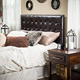Product review for Lansing King to Cal King Adjustable Brown Tufted Leather Headboard