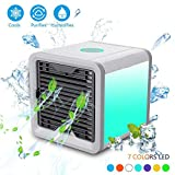 Light-AL 2019 Latest Portable Personal Air Cooler Fan, Portable Air Conditioner, Humidifier, Purifier 3 in 1 Evaporative Cooler, Mini AC USB Cooling Desktop Fan for Bedroom, Travel, Office ...