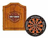 Harley-Davidson 61995 Bar and Shield Dartboard Cabinet...