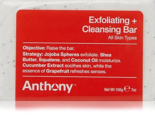 Anthony Exfoliating and Cleansing Bar, Grapefruit, 7 oz