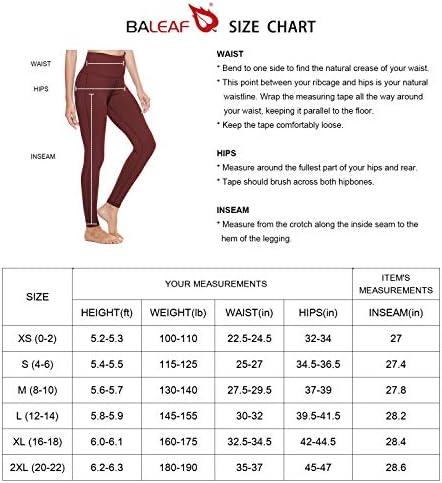 "BALEAF Women's 20"" / 28"" High Waisted Yoga Leggings Workout Capri Tummy Control Pants with Pocket(Plus Size/Regular) 6"