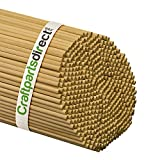 1/4 Inch x 48 Inch Wooden Dowel Rods - Unfinished Hardwood Dowels For Crafts & Woodworking - By Craftparts Direct - Bag of 25