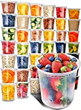 Prep Naturals Plastic Containers with Lids (40 Pack, 32 Ounce) - Freezer Containers Deli Containers with Lids - Soup Containers Plastic Food Storage Containers with Lids - Plastic Food Containers