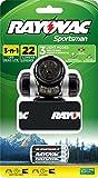 RAYOVAC Sportsman 22 Lumen 3 in 1 Headlight with 3 AAA Batteries, SPKHL3AAA-BA