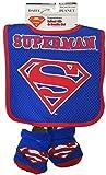 DC Comics Superman Boys Blue Infant Bib and Bootie Set [5013]