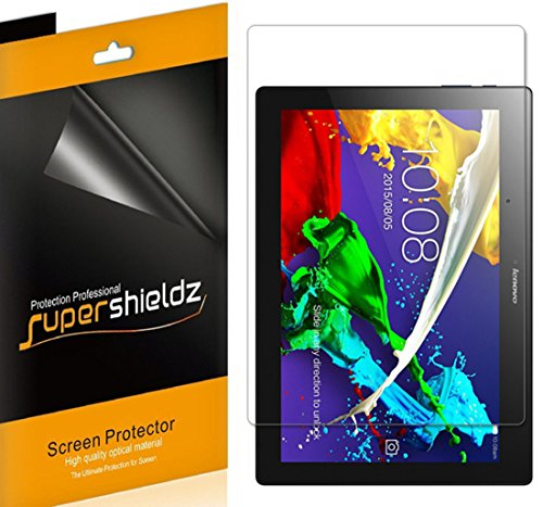 [3-Pack] Supershieldz High Definition Clear Screen Protector for Lenovo Tab 2 A10-70 + Lifetime Replacement