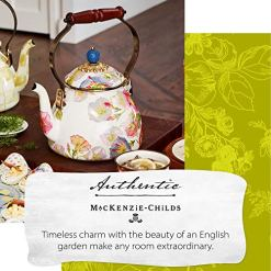 MacKenzie-Childs Morning Glory Tea Kettle