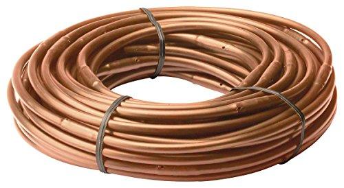 Rain Bird ET256-50S Drip Irrigation Pressure Compensating 1/4' Emitter Tubing, 6' Emitter Spacing, 50 Roll, Brown