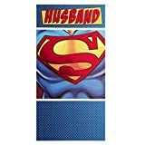 DC Comics Hallmark Birthday Card for Husband 'Superman'' - Medium Slim