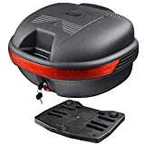 MegaBrand 30L Motorcycle Tour Tail Box Scooter Trunk Luggage Top Lock Storage Carrier Case