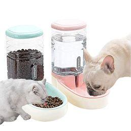 Lucky-M-Pets-Automatic-Feeder-Set-PinkGreen