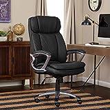 Serta 43675 Faux Leather Big & Tall Executive Chair, Black