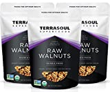 Terrasoul Superfoods Organic Raw Walnuts, 3 Lbs (3 Pack) - Chandler Variety | Fresh | Light Color