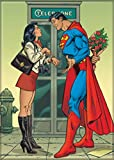 "Ata-Boy DC Comics Superman Late for His Date with Lois Lane 2.5"" x 3.5"" Magnet for Refrigerators and Lockers"