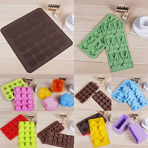 1 piece 2016 Fashion Cocina 30-cavity Silicone Pastry Cake Oven Baking Mould Sheet Mat Cake Decorating Tools