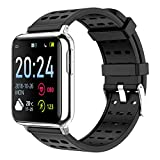 JAY-LONG IP67 Waterproof Smart Sports Watch, Fitness Tracker, ECG+PPG, Blood Oxygen Monitoring, Message Push, Call Reminder, Multi-Sport Mode, 200MAH,Black,B