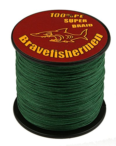 Dark Green super strong PE braided fishing line (100M, 20LB)
