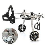 Anmas Sport Adjustable Dog Pet Wheelchair, Hind Legs Rehabilitation (S-Size: 1.Hip Height: 7'-9', Weight: 0-5lbs)