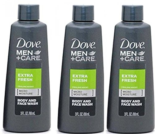 Dove Men Care Extra Fresh Body And Face Wash 3 Oz Travel Size 3pk And Care Clean Comfort Micro Moisture Mild Body Wash 3pk Skincare