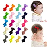 Ruyaa Tiny 2' Hair Bows Fully Lined Hair Clips for Baby Fine Hair Infants Toddlers