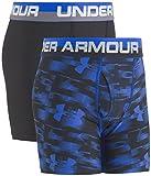 Under Armour Boys' Big 2 Pack Performance Boxer Briefs, Ultra Blue/Black, YXL