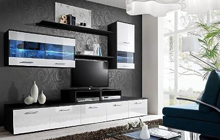 Aam Logo Ii Dark Tv Cabinets Tv Stands Tv Display Unit Entertainment Amazon Co Uk Kitchen Home